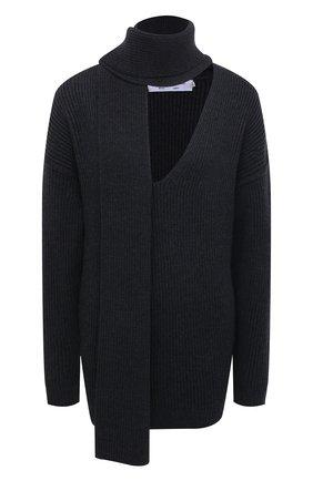 Женский шерстяной свитер PROENZA SCHOULER WHITE LABEL темно-серого цвета, арт. WL2117571-KW120 | Фото 1