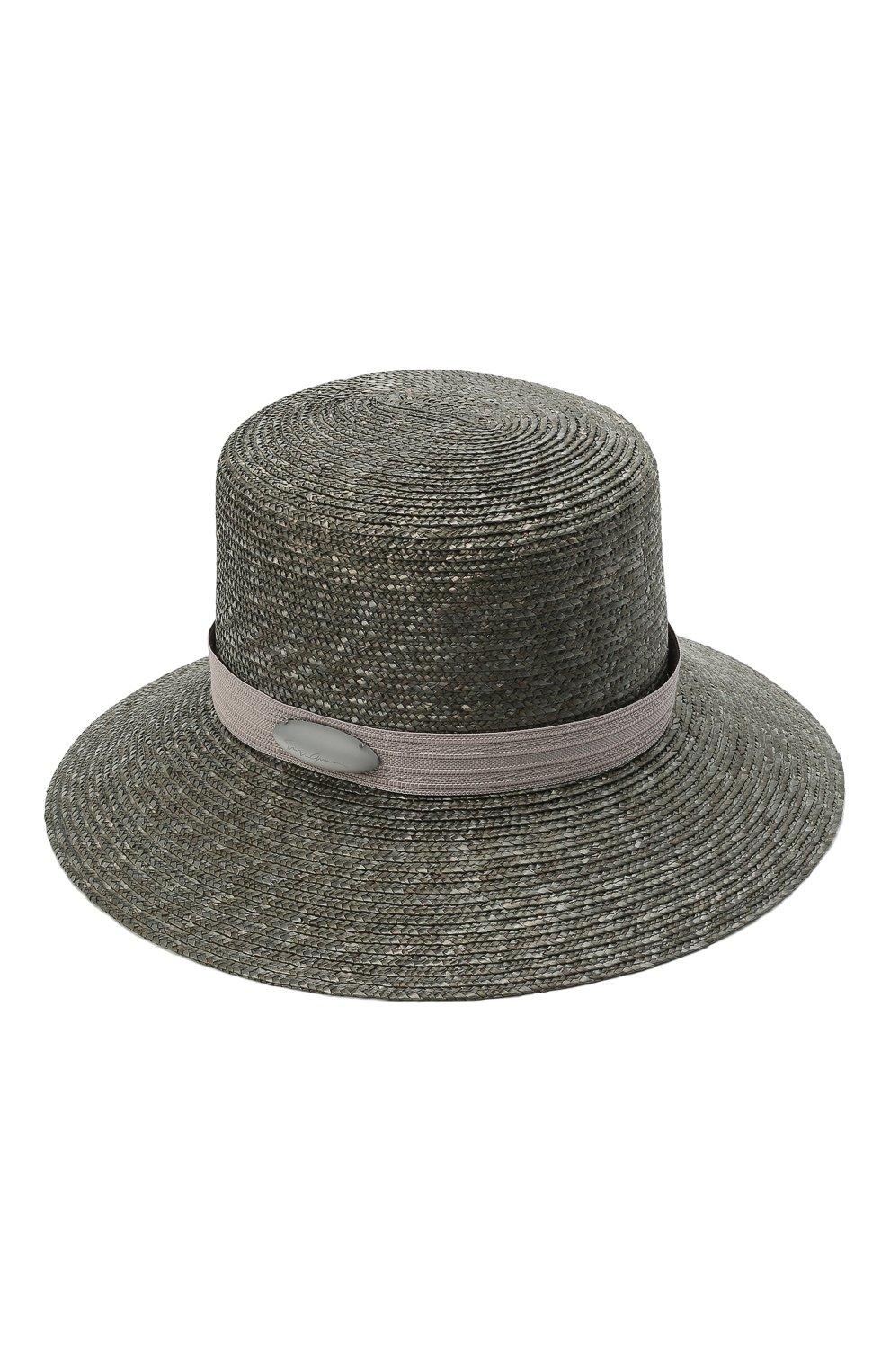 Женская соломенная шляпа GIORGIO ARMANI серого цвета, арт. 797013/1P502   Фото 1