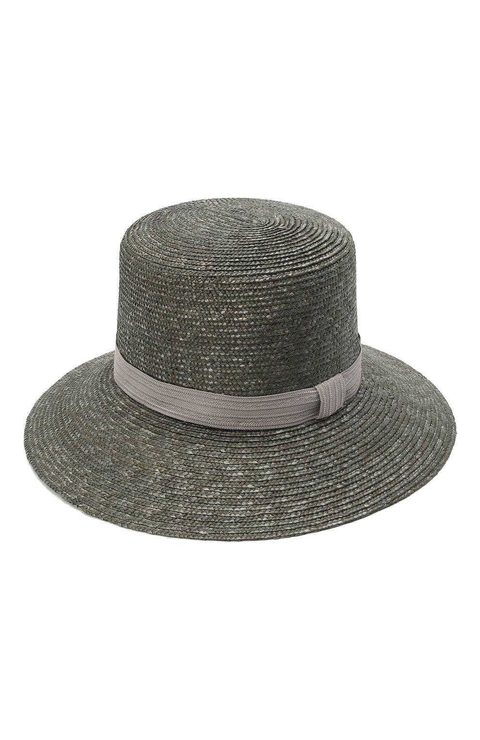 Женская соломенная шляпа GIORGIO ARMANI серого цвета, арт. 797013/1P502   Фото 2
