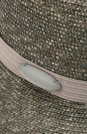 Женская соломенная шляпа GIORGIO ARMANI серого цвета, арт. 797013/1P502   Фото 3