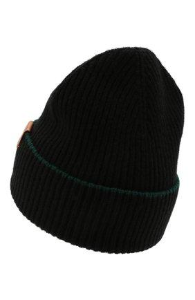 Женская шерстяная шапка LOEWE черного цвета, арт. F897295X01 | Фото 2