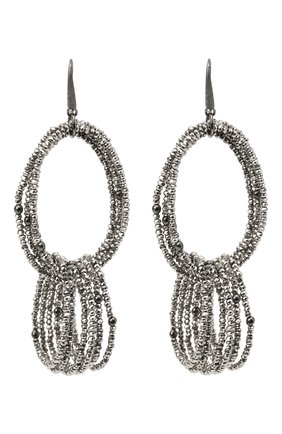 Женские серьги BRUNELLO CUCINELLI серебряного цвета, арт. M0RW9LV37/M   Фото 1