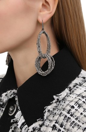 Женские серьги BRUNELLO CUCINELLI серебряного цвета, арт. M0RW9LV37/M   Фото 2