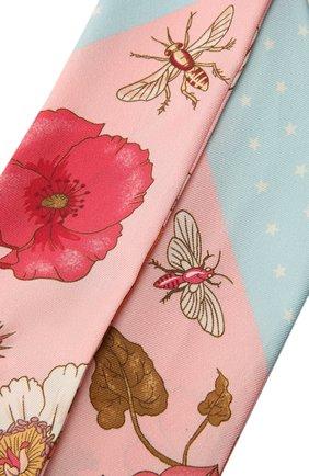 Женский шелковый шарф GUCCI розового цвета, арт. 583480/3G001   Фото 2