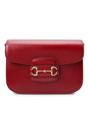 Женская сумка 1955 horsebit GUCCI красного цвета, арт. 602204/1DB0G | Фото 1 (Ремень/цепочка: На ремешке; Материал: Натуральная кожа; Сумки-технические: Сумки через плечо)
