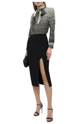 Женские кожаные босоножки LE SILLA черного цвета, арт. 8603M100R1PPKAB   Фото 2