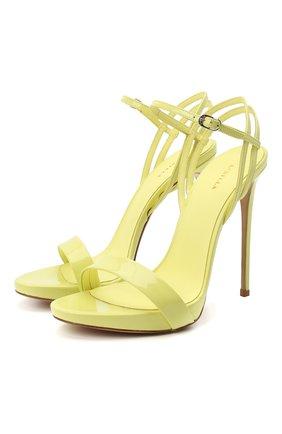 Женские кожаные босоножки LE SILLA желтого цвета, арт. 8603M100R1PPKAB   Фото 1