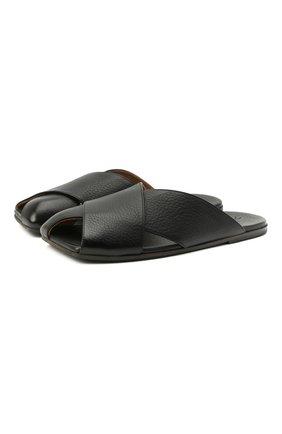 Женские кожаные шлепанцы MARSELL черного цвета, арт. MW6370/PELLE V0L0NATA | Фото 1