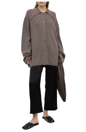 Женские кожаные шлепанцы MARSELL черного цвета, арт. MW6370/PELLE V0L0NATA | Фото 2