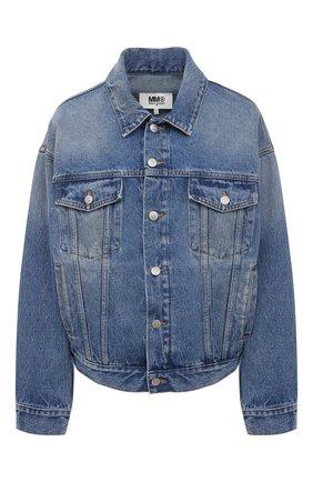 Женская джинсовая куртка MM6 синего цвета, арт. S52AM0162/S30589   Фото 1