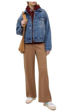Женская джинсовая куртка MM6 синего цвета, арт. S52AM0162/S30589   Фото 2