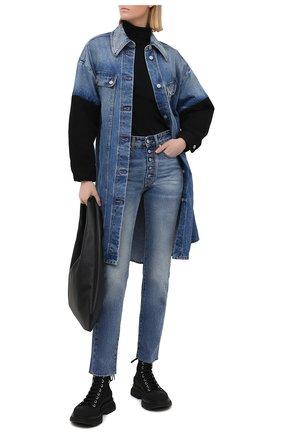 Женские джинсы MM6 синего цвета, арт. S52LA0148/S30589 | Фото 2