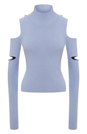 Женский пуловер из вискозы MM6 голубого цвета, арт. S52HA0213/S17651 | Фото 1