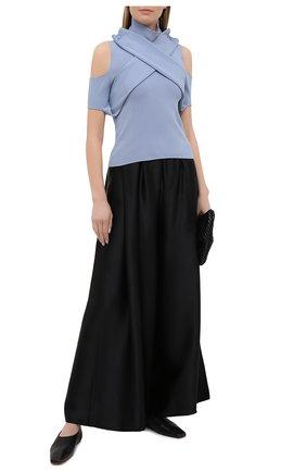 Женский пуловер из вискозы MM6 голубого цвета, арт. S52HA0213/S17651 | Фото 2