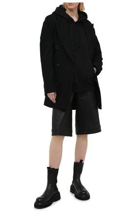 Женский хлопковое худи MM6 черного цвета, арт. S52GU0136/S25337 | Фото 2