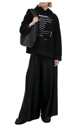 Женский хлопковое худи MM6 черного цвета, арт. S52GU0132/S25502 | Фото 2