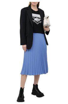 Женская хлопковая футболка MM6 черного цвета, арт. S52GC0176/S23588 | Фото 2