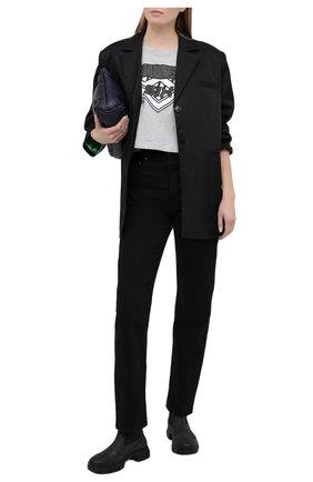 Женская хлопковая футболка MM6 серого цвета, арт. S52GC0176/S23588 | Фото 2