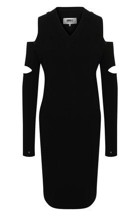 Женское платье из вискозы MM6 черного цвета, арт. S52CT0611/S17651 | Фото 1