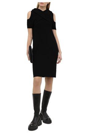 Женское платье из вискозы MM6 черного цвета, арт. S52CT0611/S17651 | Фото 2