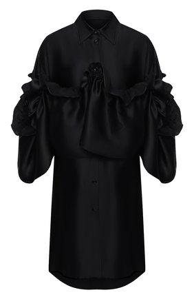 Женское платье из вискозы MM6 черного цвета, арт. S52CT0605/S52912 | Фото 1