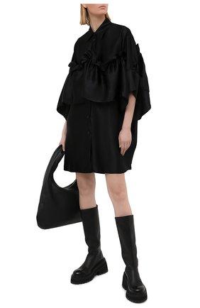 Женское платье из вискозы MM6 черного цвета, арт. S52CT0605/S52912 | Фото 2