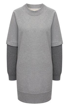 Женское хлопковое платье MM6 серого цвета, арт. S52CT0597/S25337 | Фото 1
