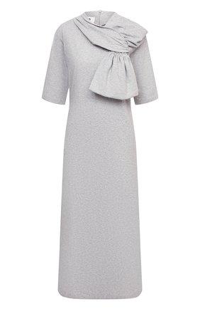 Женское хлопковое платье MM6 серого цвета, арт. S52CT0590/S23588 | Фото 1