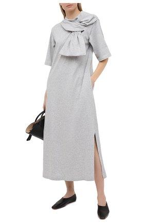 Женское хлопковое платье MM6 серого цвета, арт. S52CT0590/S23588 | Фото 2