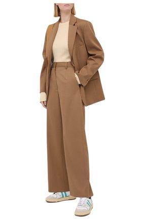 Женский жакет MM6 коричневого цвета, арт. S52BN0081/S47848   Фото 2