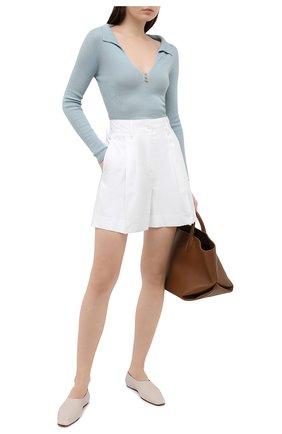 Женские хлопковые шорты LANVIN белого цвета, арт. RW-TR515U-4408-P21 | Фото 2