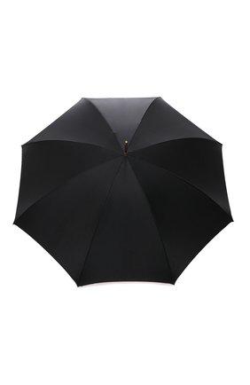 Женский зонт-трость PASOTTI OMBRELLI черного цвета, арт. 189/RAS0 52864/111 | Фото 1 (Материал: Металл, Текстиль, Синтетический материал)