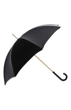 Женский зонт-трость PASOTTI OMBRELLI черного цвета, арт. 189/RAS0 52864/111 | Фото 2 (Материал: Металл, Текстиль, Синтетический материал)