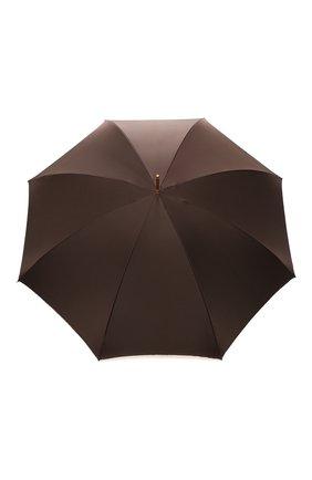 Женский зонт-трость PASOTTI OMBRELLI коричневого цвета, арт. 189/RAS0 54740/88/I35 | Фото 1