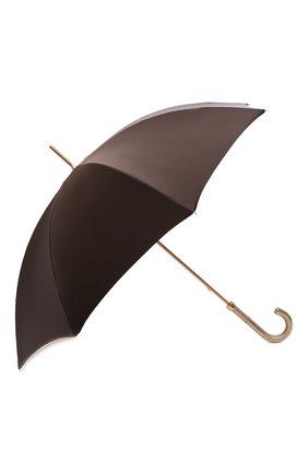 Женский зонт-трость PASOTTI OMBRELLI коричневого цвета, арт. 189/RAS0 54740/88/I35 | Фото 2