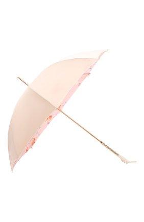 Женский зонт-трость PASOTTI OMBRELLI розового цвета, арт. 189/RAS0 5F211/8/S7 | Фото 2 (Материал: Текстиль, Синтетический материал, Металл)