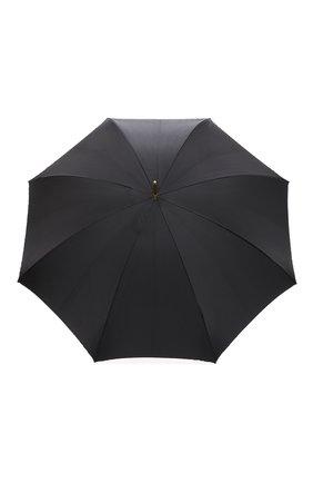 Женский зонт-трость PASOTTI OMBRELLI черного цвета, арт. 189/RAS0 5G569/5/K61 | Фото 1 (Материал: Металл, Текстиль, Синтетический материал)