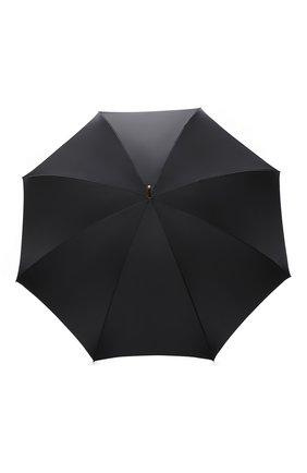 Женский зонт-трость PASOTTI OMBRELLI черного цвета, арт. 189/RAS0 5X790/10 | Фото 1 (Материал: Синтетический материал, Металл, Текстиль)