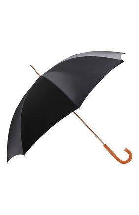 Женский зонт-трость PASOTTI OMBRELLI черного цвета, арт. 189/RAS0 5X790/10 | Фото 2 (Материал: Синтетический материал, Металл, Текстиль)