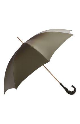 Женский зонт-трость PASOTTI OMBRELLI зеленого цвета, арт. 189/RAS0 90115/5/A35   Фото 2