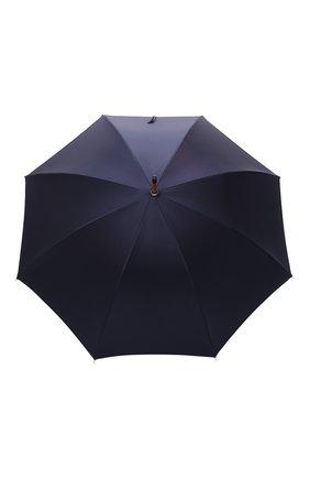 Женский зонт-трость PASOTTI OMBRELLI темно-синего цвета, арт. 142/PUNT0/3 | Фото 1 (Материал: Текстиль, Металл, Синтетический материал)