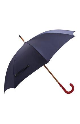 Женский зонт-трость PASOTTI OMBRELLI темно-синего цвета, арт. 142/PUNT0/3 | Фото 2 (Материал: Текстиль, Металл, Синтетический материал)