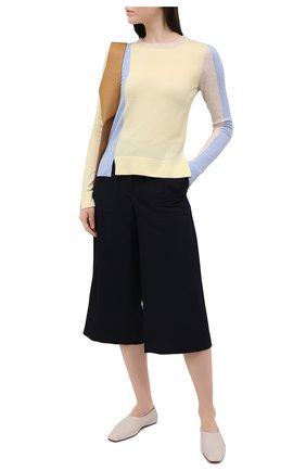Женский шерстяной пуловер JW ANDERSON желтого цвета, арт. KW0341 YN0008 | Фото 2