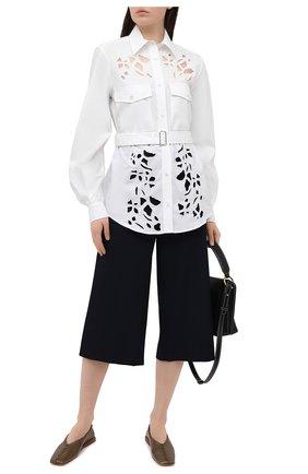 Женская хлопковая рубашка JW ANDERSON белого цвета, арт. SH0085 PG0389 | Фото 2