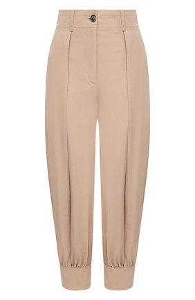 Женские хлопковые брюки JW ANDERSON светло-коричневого цвета, арт. TR0114 PG0217 | Фото 1