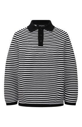 Женский хлопковый пуловер DSQUARED2 черно-белого цвета, арт. S75HA1048/S17608 | Фото 1