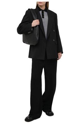 Женский хлопковый пуловер DSQUARED2 черно-белого цвета, арт. S75HA1048/S17608 | Фото 2
