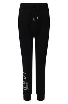 Женские хлопковые джоггеры DSQUARED2 черного цвета, арт. S80KA0009/S25042 | Фото 1