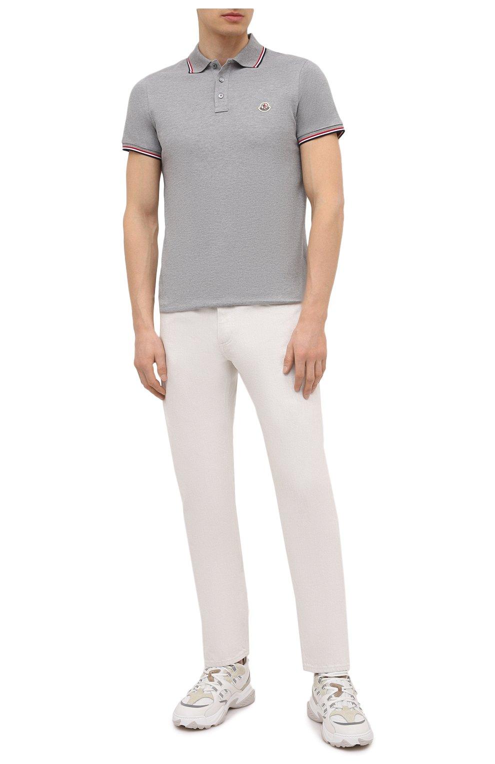 Мужские джинсы ERMENEGILDO ZEGNA белого цвета, арт. UWI60/JS01   Фото 2 (Силуэт М (брюки): Прямые; Кросс-КТ: Деним; Длина (брюки, джинсы): Стандартные; Материал внешний: Хлопок; Стили: Кэжуэл)