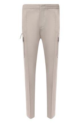 Мужские брюки-карго из хлопка и льна ERMENEGILDO ZEGNA светло-бежевого цвета, арт. UWI03/TT21 | Фото 1 (Случай: Повседневный; Материал внешний: Хлопок; Стили: Кэжуэл; Силуэт М (брюки): Карго; Длина (брюки, джинсы): Стандартные)